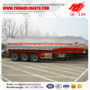 Tri-Axle 32cbm HCl Acid Tank Semi Trailer with PE Lining pictures & photos