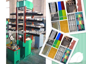 Xlb 550X550X4 Rubber Tile Making Machine with ISO9001, CE pictures & photos