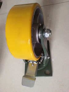 PU+Steel Caster Loading 1000kg with 50mm Width pictures & photos