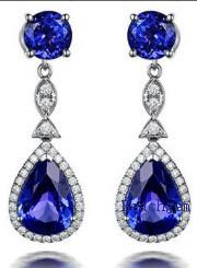 Fashion Jewellery Tanzanite Cubic Zirconia Earrrings pictures & photos