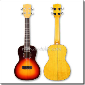 "21"" Sunburst Spruce Top Soprano Ukulele Guitar (AU90SB) pictures & photos"