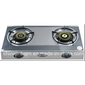 2 Burner Whirlwind Cap Stainless Steel Gas Cooker pictures & photos