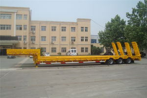 3 Axles Heavy Duty Low Bed Semi Trailer pictures & photos