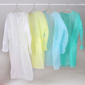 Disposable Non-Woven Surgical Isolation Gown pictures & photos