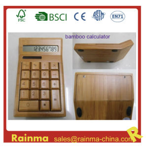 Solar Bamboo Calculator for Office Stationery pictures & photos