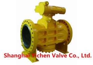 Pressure Balance Metal Seated Flanged Plug Valve pictures & photos