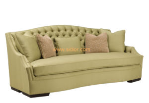 (CL-6618) Classic Restaurant Hotel Sofa Wooden Fabric Living Room Couch pictures & photos