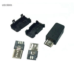 Micro USB Connector/USB 5p Plug Micro with 3 Parts pictures & photos