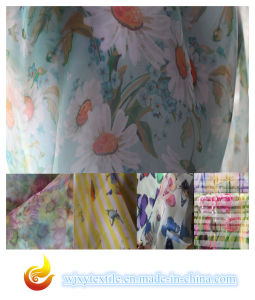 Digital Printed Organza Polyester Fabric (XY-P20150029S) pictures & photos