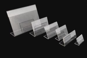 Customized Clear Acrylic Table L Shape Acrylic Desk Sign Holder