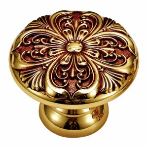 Brass Cabinet Pull Handle and Knob with Ivory Gold Finish pictures & photos