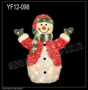 White Tinsel Snowman (YF12-098)