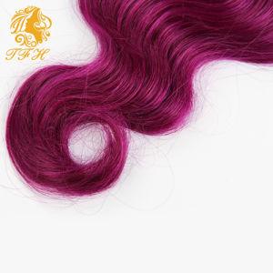 7A Brazilian Virgin Hair Ombre Hair Body Weave 1b/Violet Short Bob Hair Weave Full Head 6 PCS Lot Orange Ombre Human Hair pictures & photos