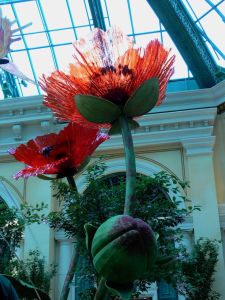 Special Custom Design Glass Flower Sculpture for Decoration