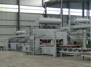 Two Side Short Cycle Lamination Hot Press for Particle Board Lamination Hot Press pictures & photos