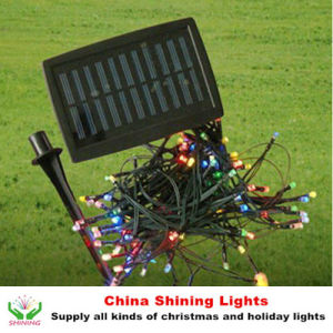 Best Selling Christmas Holiday Solar Panel LED Lights in Varies Colors pictures & photos