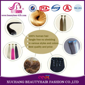 Human Hair Keratin Hair Bonding Extensions Flat Tip Hair Extensions pictures & photos