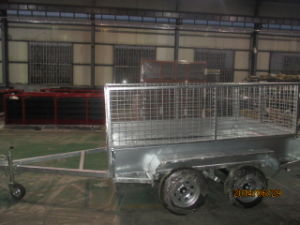 Tandem Tipping Box Double Dual Axle Cage Trailer pictures & photos