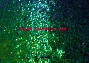 Embroidery Fabric with Green Sequin -Flk214