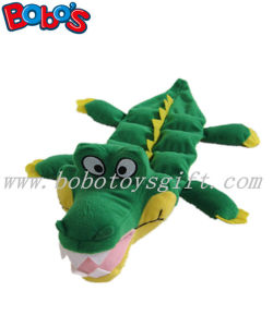 11.8inch Plush Pet Dog Toy Green Crocodile with Squeaker Bosw1058/30cm pictures & photos