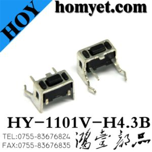 China DIP Tact Switch with 3*6*4.3mm Holder 4pin (HY-1101V-H43) pictures & photos