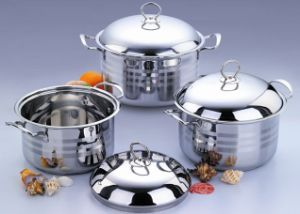 3PCS Set Stainless Steel Saucepot pictures & photos