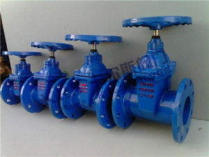 Soft Sealed Non Rising Stem Flange Gate Valve (Z45X-16Q) pictures & photos