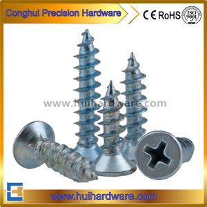 DIN7982 Zinc-Plated Steel Cross Recessed Csk/Flat Head Self-Tapping Screws pictures & photos
