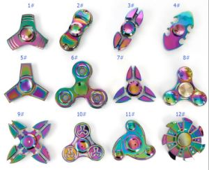 Rainbow Metal Fidget Spinners with No Noise 3-5minutes Rotation pictures & photos