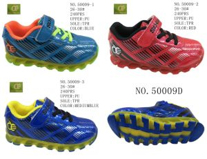 No. 50009 Kids Sport Stock Shoes Three Colors pictures & photos