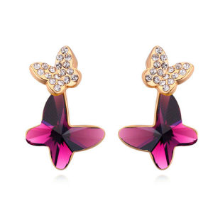 New Design Girl′s Gemstone Surgical Earrings Wholesale