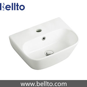 Small Wall Mount Ceramic Wash Basin for Bathroom (3062) pictures & photos