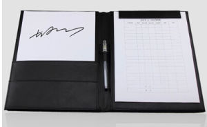A4 Size Black Leather Document Folder pictures & photos