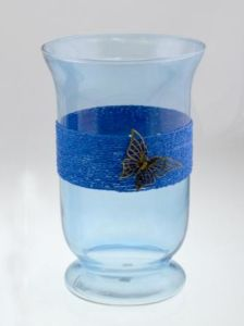 New Design Colorful Glass Hurrine Candleholder for Summer pictures & photos