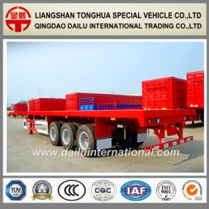 3-Axles 40FT Container Transport Flatbed Semi Trailer pictures & photos