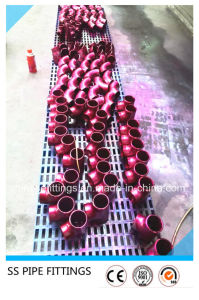 ASME Seamless Pipe Fittings Red Printed Elbow pictures & photos