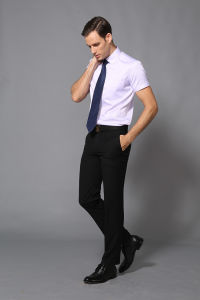 Latest Men′s Formal Dress Shirt of Short Sleeve pictures & photos