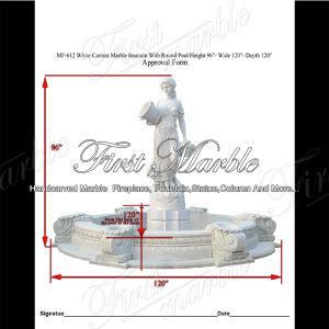 Top Quality White Carrara Sculpture Fountain for Garden Furniture Mf-612