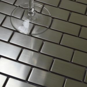 Metal Mosaics Stainless Steel Tile Kitchen Background Wall Metallic Mosaic Tiles pictures & photos