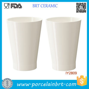 Custom Wholesale White Ceramic Planter Pot pictures & photos