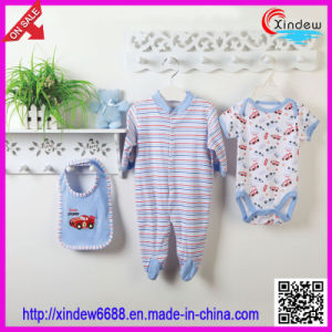 3 PCS Cotton Baby′s Wear Set pictures & photos