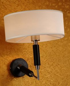 New Design High Quality Iron Wall Lamp with Fabric pictures & photos