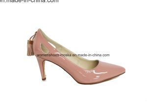Hot Sale Women Fashion High Heel Lady Dress Shoes with Tassel pictures & photos