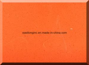 Pure Color Artificial Orange Quartz Stone Slab Quartz Stone Countertops pictures & photos
