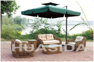 Outdoor Leisure Hollow Circle PE Rattan 4-PCS Sofa Set pictures & photos