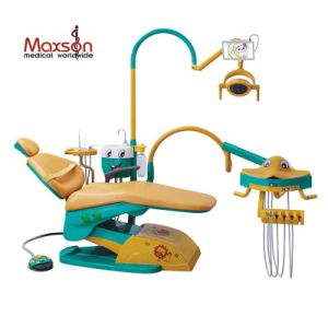 Classical Colorful Children Dental Unit with Cute Animal Instrument Tray
