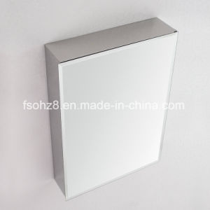 Stainless Steel Furniture Bathroom Rectangular Storage Mirror Cabinet (7024) pictures & photos