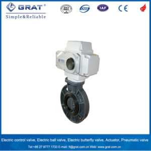 Wafer Mode PVC Body EPDM Seat Electric on/off Butterfly Valve pictures & photos
