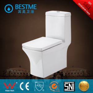One Piece Ceramic Wc with Popular Design (BC-2007) pictures & photos