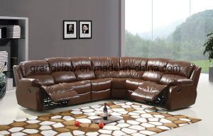 Living Room Furniture Reclining Sectional Sofa Set 3PC pictures & photos